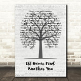 The Seekers I'll Never Find Another You Music Script Tree Song Lyric Wall Art Print