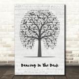 Bruce Springsteen Dancing In The Dark Music Script Tree Song Lyric Wall Art Print