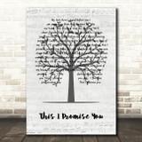 Ronan Keating This I Promise You Music Script Tree Song Lyric Wall Art Print