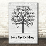 Eva Cassidy Over The Rainbow Music Script Tree Song Lyric Wall Art Print