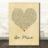 David Gray Be Mine Vintage Heart Song Lyric Quote Print