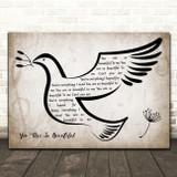 Joe Cocker You Are So Beautiful Vintage Dove Bird Song Lyric Wall Art Print