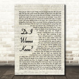 Arctic Monkeys Do I Wanna Know Quote Song Lyric Print