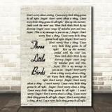 Three Little Birds Bob Marley Script Quote Song Lyric Print