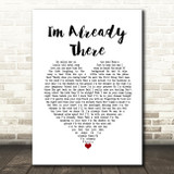 Lonestar I/'m Already There Vintage Script Song Lyric Quote Print