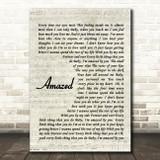 Lonestar Amazed Quote Song Lyric Print
