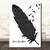 Halestorm Dear Daughter Black & White Feather & Birds Song Lyric Print