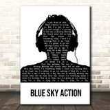 Above & Beyond feat. Alex Vargas Blue Sky Action Black & White Man Headphones Song Lyric Print