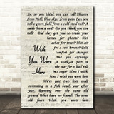 Pink Floyd Wish You Were Here Song Lyric Vintage Script Quote Print