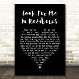 Vicki Brown Look For Me In Rainbows Black Heart Song Lyric Print
