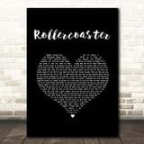 Jonas Brothers Rollercoaster Black Heart Song Lyric Print