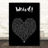 YUNGBLUD Weird! Black Heart Song Lyric Print