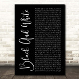 Niall Horan Black And White Black Script Song Lyric Print