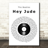 The Beatles Hey Jude Vinyl Record Song Lyric Quote Print