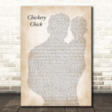 Frank Sinatra Chickery Chick Father & Baby Song Lyric Print