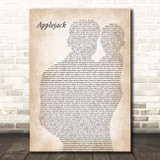 Dolly Parton Applejack Father & Baby Song Lyric Print