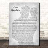 Lin-Manuel Miranda & Leslie Odom Jr. Dear Theodosia Father & Baby Grey Song Lyric Print