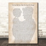 Queen No-One But You (Only The Good Die Young) Father & Child Song Lyric Print