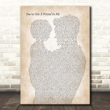 Randy Newman You've Got A Friend In Me Father & Child Song Lyric Print