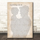 Don Williams Good Ole Boys Like Me Father & Child Song Lyric Print