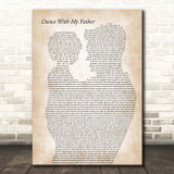 Luther Vandross Dance With My Father Father & Child Song Lyric Print