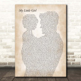 Tim McGraw My Little Girl Father & Child Song Lyric Print