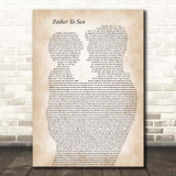 Phil Collins Father To Son Father & Child Song Lyric Print
