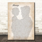 Bon Jovi Always Father & Child Song Lyric Print
