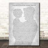 Bonnie Tyler Loving You Is A Dirty Job But Somebody's Gotta Do It Father & Child Grey Song Lyric Print