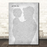 Oh Wonder All We Do Father & Child Grey Song Lyric Print