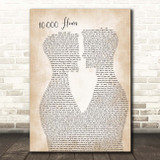 Dan + Shay & Justin Bieber 10,000 Hours Two Men Gay Couple Wedding Song Lyric Print