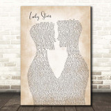 Lucy Spraggan Lucky Stars Two Men Gay Couple Wedding Song Lyric Print