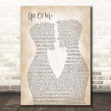 John Legend All Of Me Two Men Gay Couple Wedding Song Lyric Print