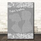 Ed Sheeran & Andrea Bocelli Perfect Symphony Grey Burlap & Lace Song Lyric Print