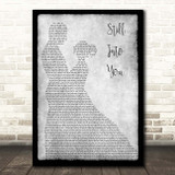 Paramore Still Into You Grey Man Lady Dancing Song Lyric Print