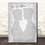 Ben Platt Share Your Address Two Men Gay Couple Wedding Grey Song Lyric Print