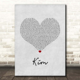 Niall Horan Black And White Grey Heart Song Lyric Print