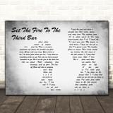 Snow Patrol Set The Fire To The Third Bar Man Lady Couple Grey Song Lyric Print
