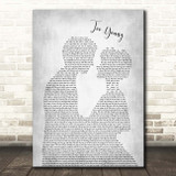 Jimmy Young Too Young Man Lady Bride Groom Wedding Grey Song Lyric Print