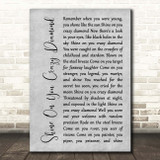 Pink Floyd Shine On You Crazy Diamond Grey Rustic Script Song Lyric Print