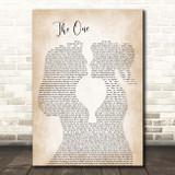 Kodaline The One Lesbian Women Gay Brides Couple Wedding Song Lyric Print