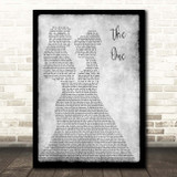 Kodaline The One Lesbian Couple Two Ladies Dancing Grey Song Lyric Print