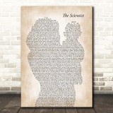 Coldplay The Scientist Mother & Baby Song Lyric Print
