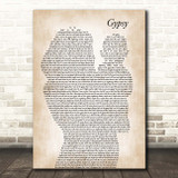 Fleetwood Mac Gypsy Mother & Baby Song Lyric Print