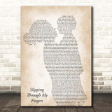 ABBA Slipping Through My Fingers Mother & Child Song Lyric Print