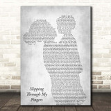 ABBA Slipping Through My Fingers Mother & Child Grey Song Lyric Print