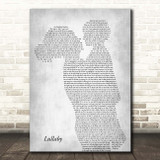 Lemar Lullaby Mother & Child Grey Song Lyric Print