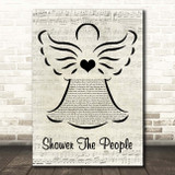 James Taylor Shower The People Music Script Angel Song Lyric Print