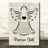 Karen Taylor Good Precious Child Music Script Angel Song Lyric Print