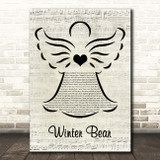 Coby Grant Winter Bear Music Script Angel Song Lyric Print